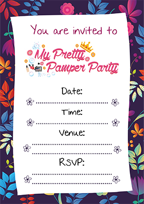 Cape Town Pamper Party Invite1