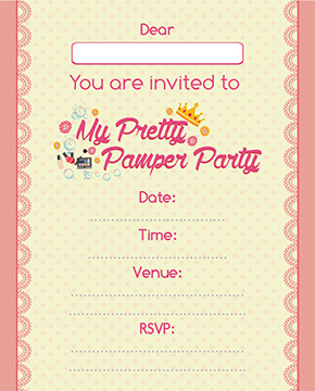 cape town pamper party invite3 - Pamper Party Invitations