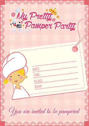 Pamper Party Invites Cape Town