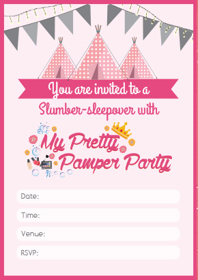 Cape Town Pamper Party Invite3